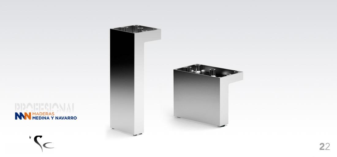 Pata decorativa para muebles de sc herrajes en aluminio for Herrajes de aluminio para toldos